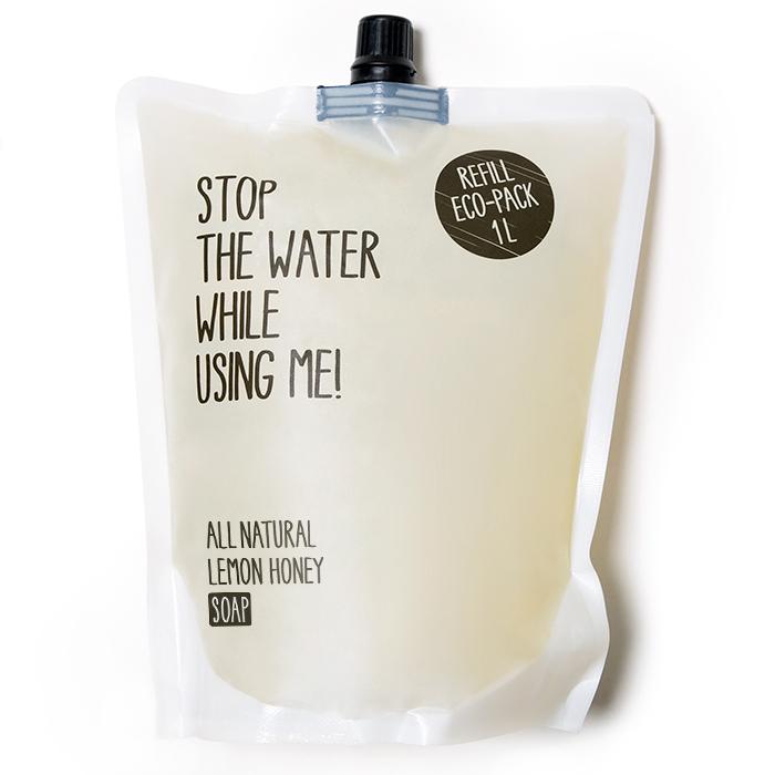 Eco-recarga de jabón líquido de Miel y Limón de Stop The Water While ...